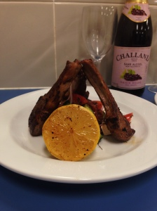 Greek inspired lamb cutlets with salad (Serves 2)