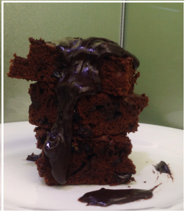 Blueberry double chocolate brownies