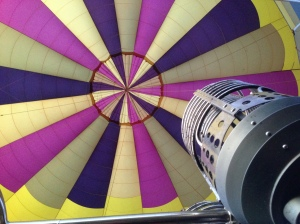 Looking up into the balloon, so majestical.