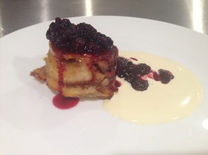 blueberry and white chocolate pudding