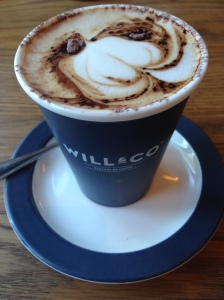 A Will and Co cappuccino