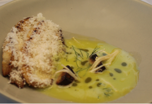 Paul Farag flounder with a sorrel and apple emulsion
