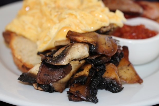 Medly of mushrooms in the big breakfast