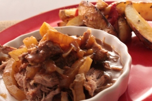 Braised pork with fennel