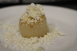 Scallop with chorizio sand